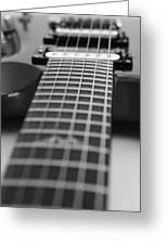 Guitar View Greeting Card