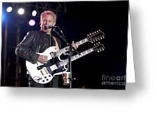Guitarist Don Felder Greeting Card