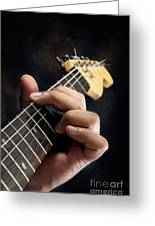 Guitarist Playing Guitar Greeting Card