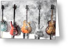 Guitars On The Wall Greeting Card