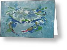 Gulf Blue Crab Greeting Card