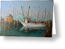 Gulf Shrimpers Greeting Card