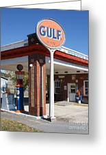Gulf Station Sign Greeting Card