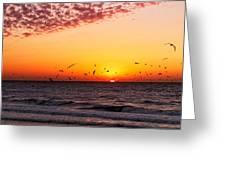 Gulf Sunset Greeting Card
