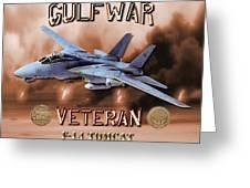 Gulf War Veteran F-14 Tomcat  Greeting Card