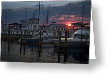 Gulfport Sunset Greeting Card