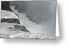Gullfoss Waterfall Iceland Greeting Card