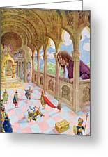 Gulliver At Lilliput Greeting Card