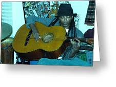 Gully Guitar And Black Hat  Greeting Card