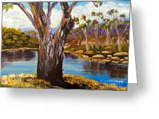 Gum Trees Of The Snowy River Greeting Card