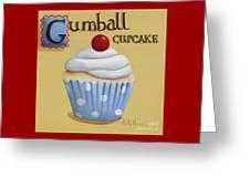 Gumball Cupcake Greeting Card