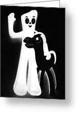 Gumby And Pokey B F F Black White Greeting Card