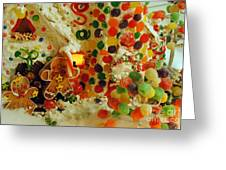 Gumdrops N Ginger Bread  Greeting Card