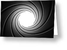 Gun Barrel From Inside Greeting Card