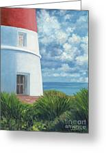 Gun Cay Lighthouse Greeting Card