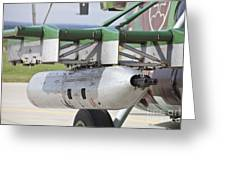 Gun Pod On A Slovakian Mi-17 Helicopter Greeting Card