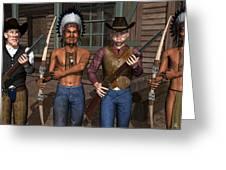 Gunfight At The Okey Dokey Corral Greeting Card