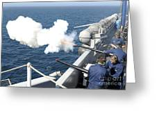 Gunners Mates Test Fire The Ships Greeting Card