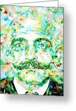 Gurdjieff- Watercolor Portrait Greeting Card