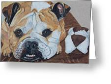 Gus - English Bulldog Commission Greeting Card