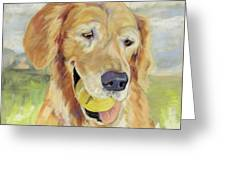 Gus Greeting Card by Pat Saunders-White