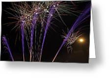 Guy Fawkes Night At Gloucester Quay Greeting Card