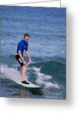 Guy Surfing Greeting Card