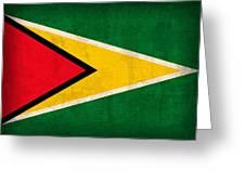 Guyana Flag Vintage Distressed Finish Greeting Card