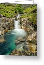 Gwynant Waterfall Greeting Card