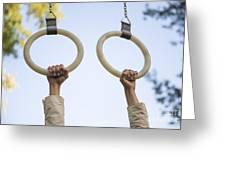 Gymnastic Rings Greeting Card