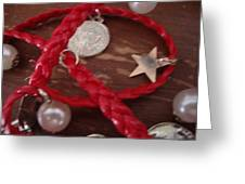 Gypsy Coins Bracelet Photograph Greeting Card