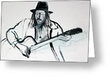 Gypsy Guitarist Greeting Card