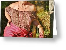 Gypsy In Cranberry Greeting Card