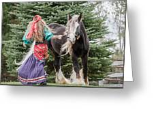 Gypsy Vanner Dance Greeting Card