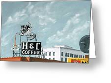 H And C Coffee Greeting Card