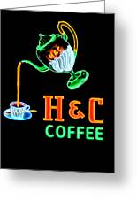 H And C Sign Greeting Card