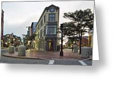 H H Hay Building  Portland Maine Greeting Card