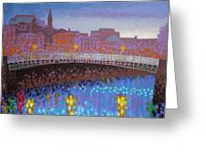 Ha Penny Bridge Dublin  Cropped Greeting Card