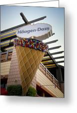 Haagen Dazs Ice Cream Signage Downtown Disneyland 01 Greeting Card