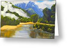 Haast River New Zealand Greeting Card
