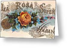 Habana Cigar Label Greeting Card