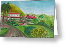 Hacienda Gripinas Old Coffee Plantation Greeting Card