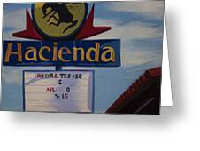 Hacienda Greeting Card