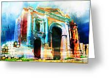Hadrians Arch Greeting Card