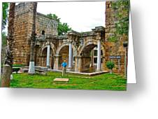 Hadrian's Gate In Antalya-turkey Greeting Card