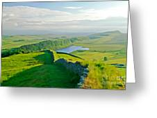 Hadrians Wall And Crag Lough Greeting Card