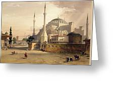 Haghia Sophia, Plate 17 Exterior View Greeting Card by Gaspard Fossati