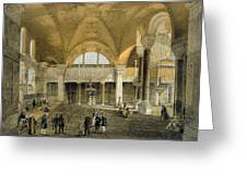 Haghia Sophia, Plate 9 The New Imperial Greeting Card by Gaspard Fossati