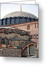 Hagia Sofia Close Up Greeting Card