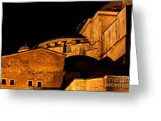 Hagia Sophia At Night Greeting Card